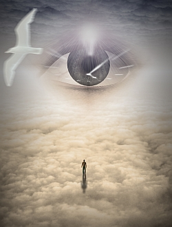 Power and Wisdom dove eye clouds