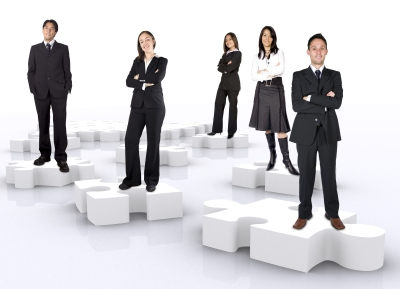 Business Team pieces of the puzzle