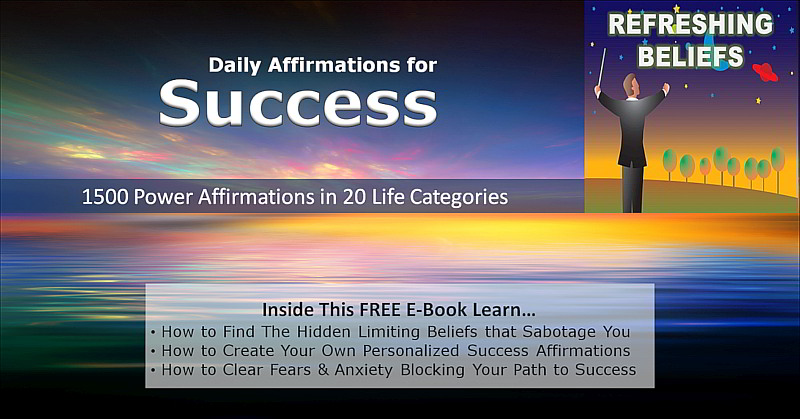 Refreshing Beliefs free ebook with 1500 Powerful affirmations