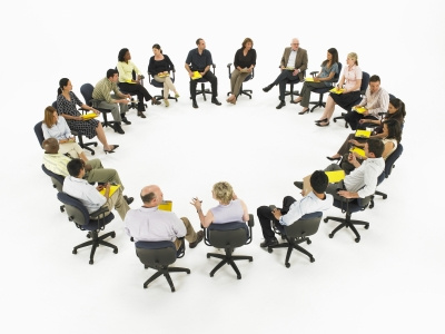 Meeting in a circle